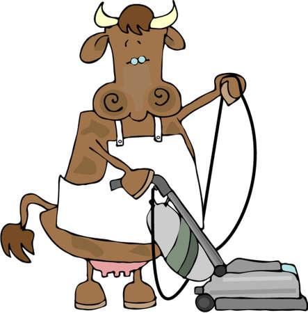 Cow utilisant le vide