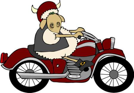 Sheepy rider Ilustração