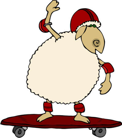 elbow pads: Sheep skate