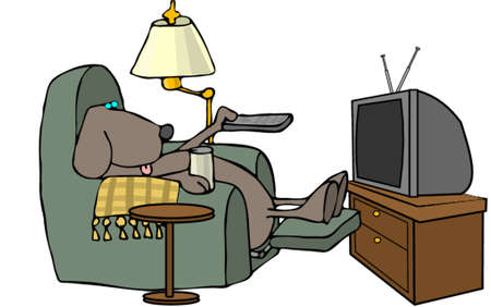 recliner: Remote control dog