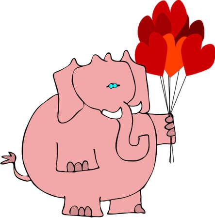 Valentines elephant