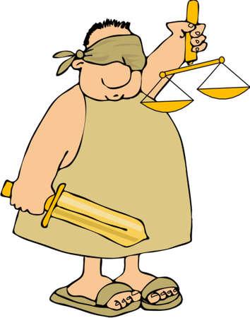 Justicia Ciega  Foto de archivo - 767866