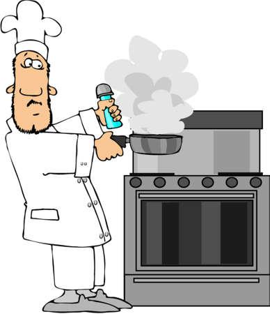 oven and range: Burnt Dinner