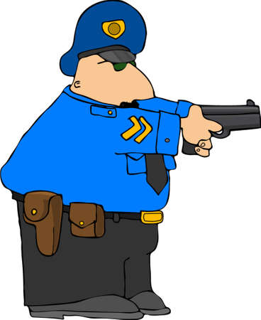 holster: Police Draw Down Illustration