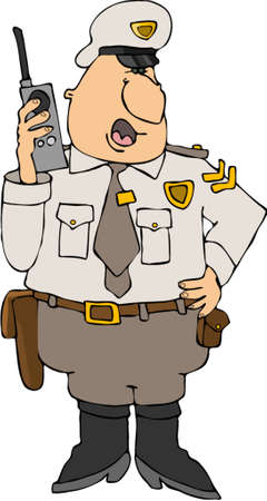 holster: Cop On A Radio