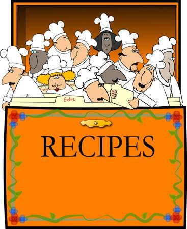 Recept Box Stockfoto