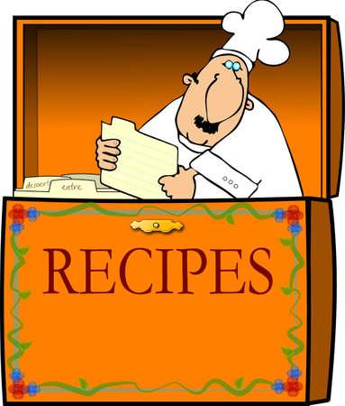 Chef In A Recipe Box Zdjęcie Seryjne - 867184