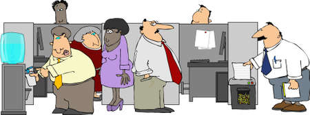 office cubicle: Office Gossip