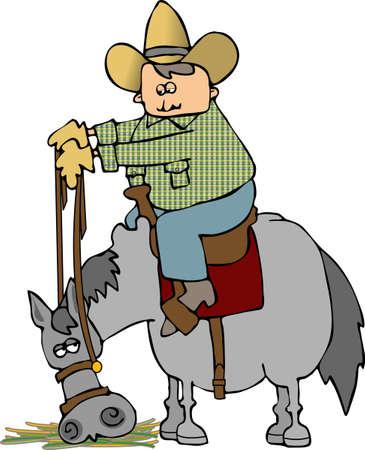 Horse Eating Banco de Imagens