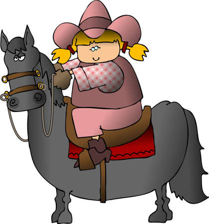 bridle: Cowgirl On A Horse