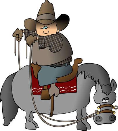 Wrongway Cowboy Banco de Imagens