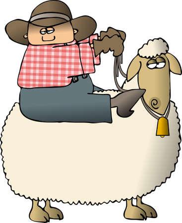 sheepy: Sheepy Rider Stock Photo