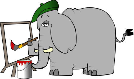 Elephant Painter Stock fotó - 1067333