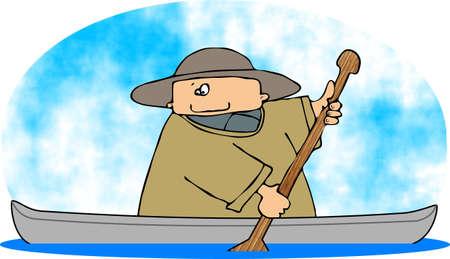 Man In een kano
