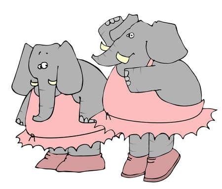 Elephant Ballet Stock fotó - 1194793