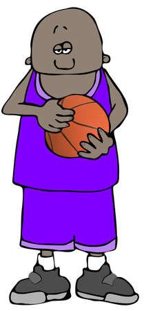 Basketball Boy Zdjęcie Seryjne