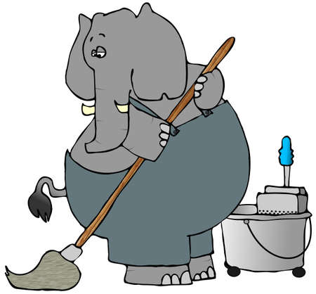 Elephant Mopper Фото со стока - 1236444