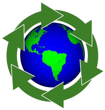 Earth Recycle Reklamní fotografie