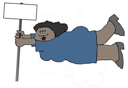 Woman In High Wind