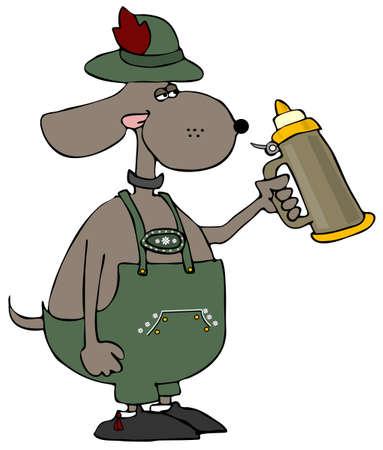 stein: Oktoberfest Dog