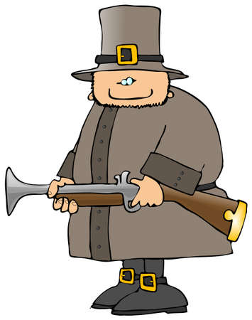 Pilgrim With A Blunderbuss Stockfoto - 1674703