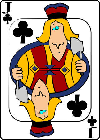 jack of clubs: Jack Of Clubs Stock Photo
