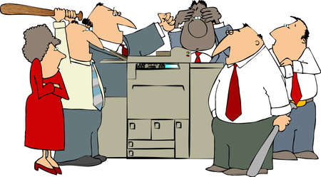 Boos over Office Stockfoto