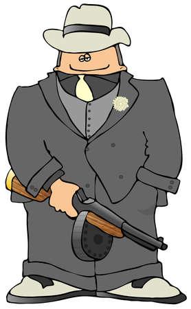 villain: Gangster With A Tommy-gun