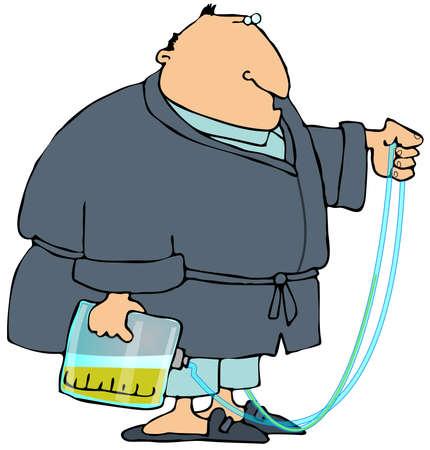 pajama: Man With A Pee Bag