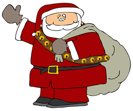 Santa With A Bag Of Gifts