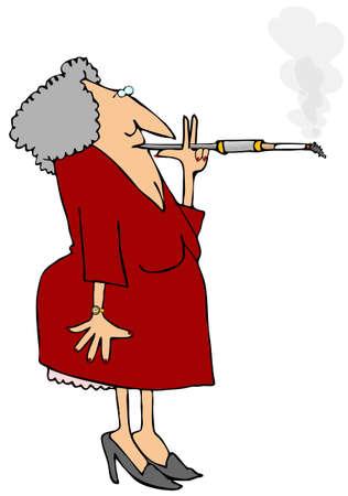 Woman Smoking A Cigarette Stock fotó