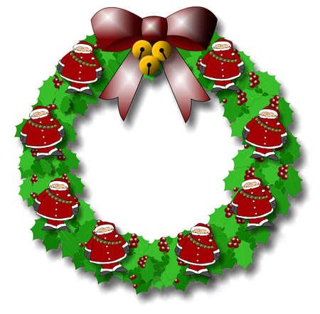 Santa Wreath Фото со стока