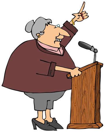 Woman At A Podium