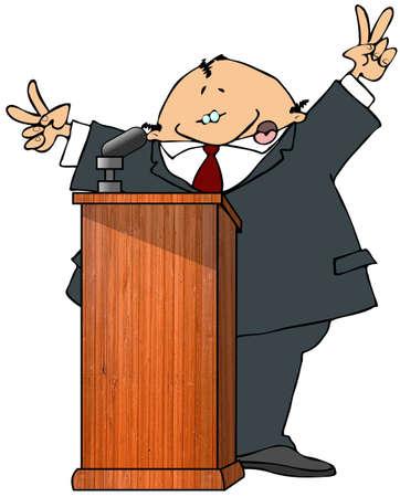 politician: Politician At A Podium