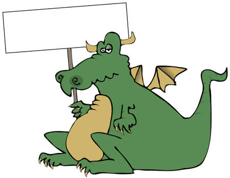 Dragon With A Sign Stock Photo - 2478830