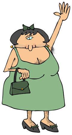 pubic: Hairy Woman