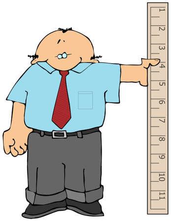 yardstick: Measure Man Stock Photo