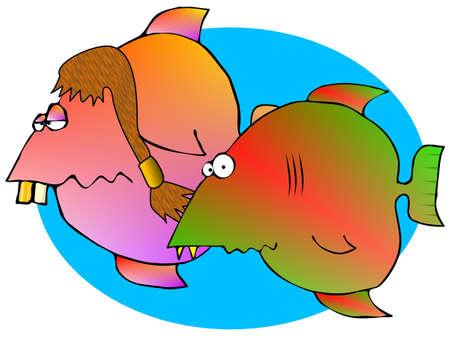 redneck: Redneck Fish Stock Photo