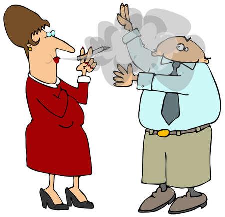 Second Hand Smoke Stock Photo