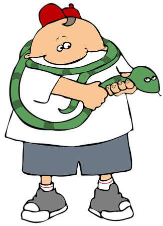Snake Handler Stock Photo - 2909263