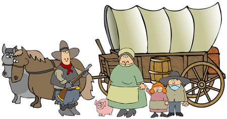 Covered Wagon Imagens - 2920396