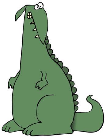 クレイジーな恐竜 写真素材