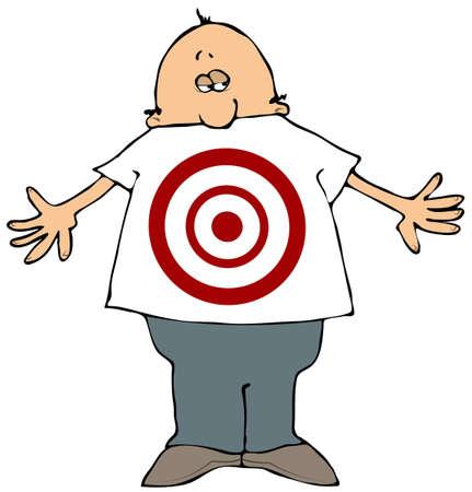 Target Man Reklamní fotografie