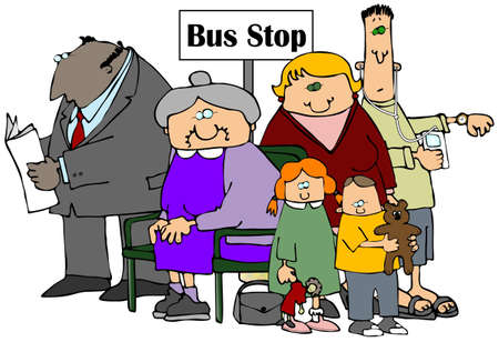 bus stop: Bus Stop Stock Photo