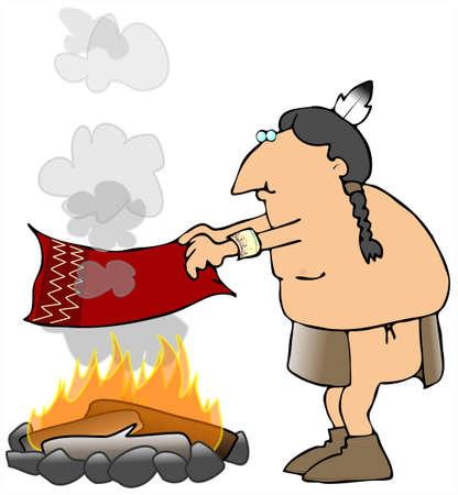 Indian Smoke Signals Фото со стока - 2983429