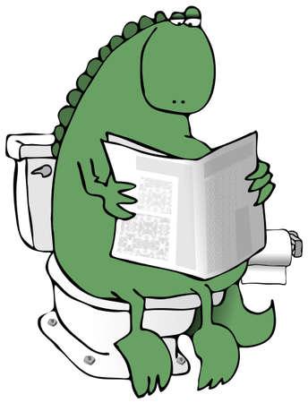 toilet: Dinosaur On A Toilet