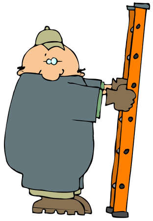Workman With A Ladder