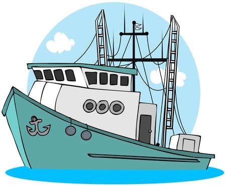 Vis Trawler  Stockfoto