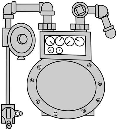 gas meter: Gas Meter Set