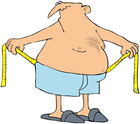 slip homme: Homme mesure son tour de taille